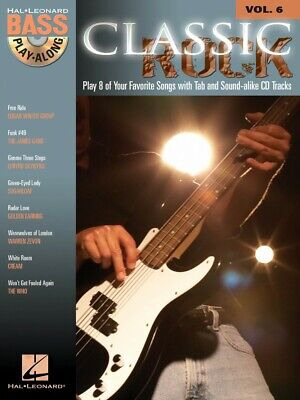 - Classic Rock Sheet Music Bass Play-Along Book and Audio NEW 000699678