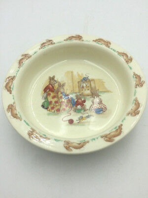 Cereal Dish - BUNNYKINS Royal Doulton Heavy CEREAL Dish Bowl