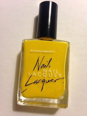 American Apparel Nail Lacquer Discontinued Polish Solid Sunshine State Yellow