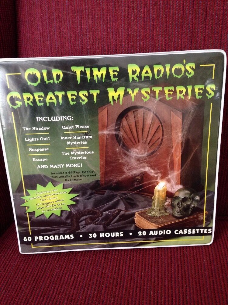 OLD TIME RADIO'S GREATEST MYSTERIES - 60 Programs - 30 Hours - 20 AudioCassettes