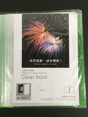 New A4 60 Pockets Clear File For Display Presentation Document Folder File Green