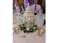 6 x ivory wedding lanterns
