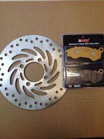Honda PCX 125 / Vision Front Brake Disc & Pad Kit NSC110 NSC 110 PCX125 WW125