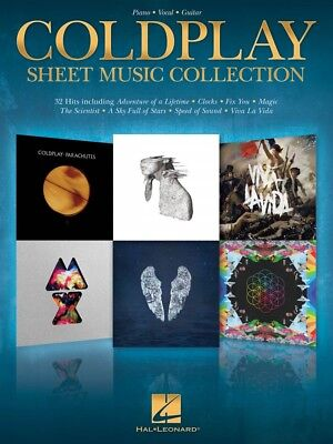Coldplay Sheet Music Collection Piano Vocal Guitar SongBook NEW 000222686