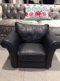 Kids black mini leather chair seat