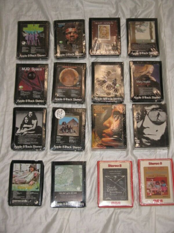 Beatles Apple RCA Records Label 8 Track Tapes 18 Diff 17 SEALED NILSSON YOKO SEE