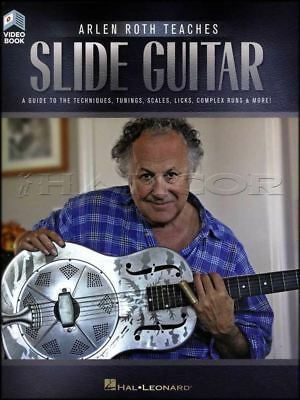 Slide Guitar Scales (Arlen Roth Teaches Slide Guitar TAB Music Book/Video Techniques Tunings Scales )