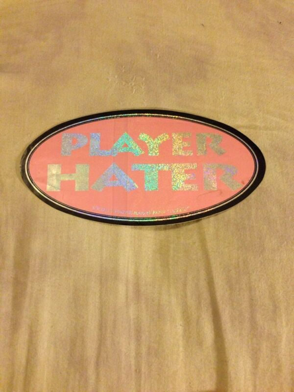 Player Hater Pink Bumper Sticker