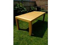 Oak table & sideboard