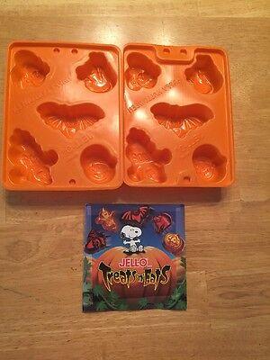 NEW - 2 Halloween Jello Jiggler Molds ~ Bat, Pumpkin, Cat, Witch, Ghost, Recipes