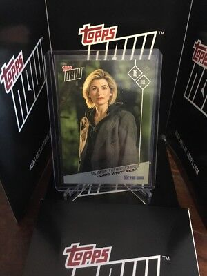 2017 TOPPS DR WHO NOW #1 JODI WHITTAKER THE THIRTEENTH DOCTOR ONLY 1400 MADE
