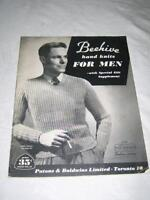 Vintage Beehive Knitting pattern books