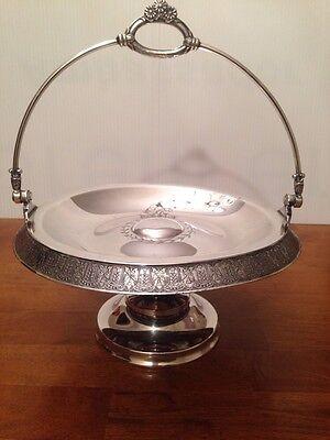 Antique Vintage Bridal Basket Silver Plate Meriden Quadruple Plate 1887 USA