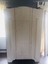 Wardrobe -shabby chic Victorian style white wardrobe