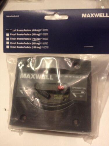 Maxwell P100789 Breaker/Isolator 40 Amp 12/24 Volt New In Package
