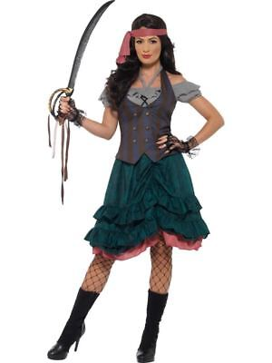 Deluxe Pirate Wench Kostüme (Deluxe Pirate Wench Costume, Pirate Fancy Dress, UK Size 8-10 #DE)