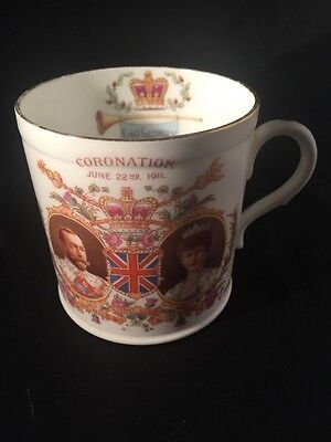 Coronation King George Queen Mary Late Foley Shelley Antique Cup Royal