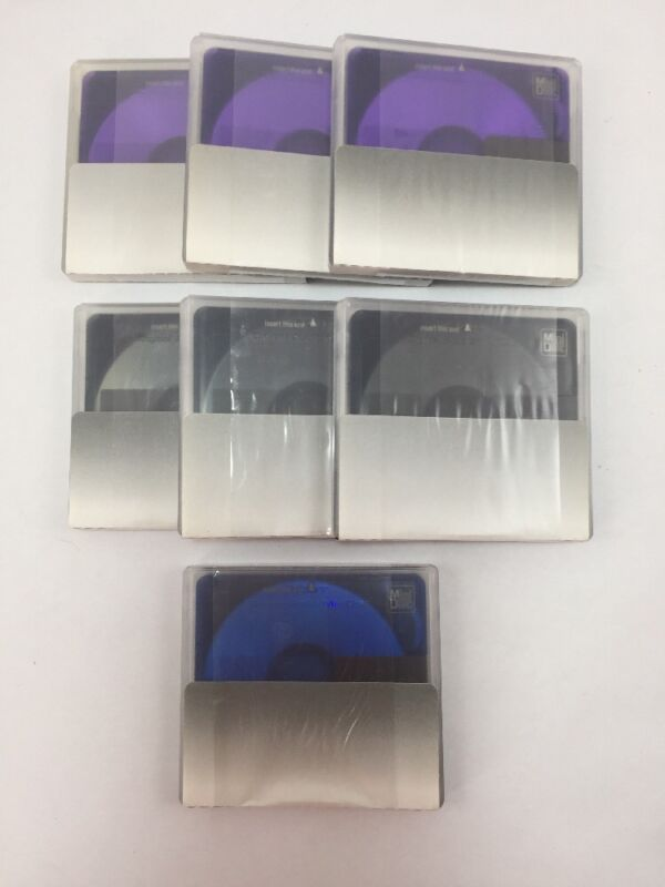 New SONY COLOR COLLECTION 80 minutes 7 PACK MD MINIDISC