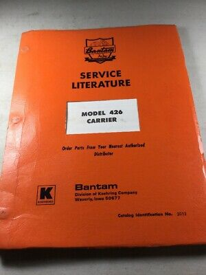 Bantam Model 426 Carrier Parts Catalog Manual