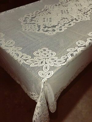 Ivory Lace Tablecloth Artistry 62 X 88 Wedding Diningroom An