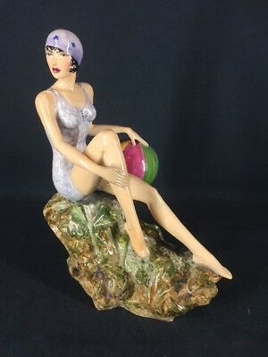 Peggy Davies Art Deco Figurine Original Colourway (ref Y042)