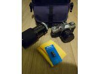 Canon AV-1 35mm film camera bundle