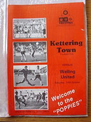 18/10/1986 Kettering Town v Welling United  (Good Condition)
