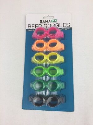 Rare SealedGAMA-GO 6 Pack Beer Googled Bottle Can Markers Man Cave Bar Drinking