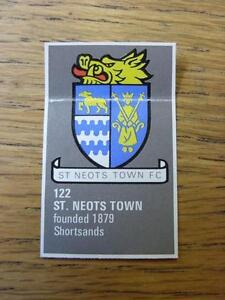 1971-1972-Bartholomew-Football-Map-Club-Badge-Cut-Out-122-St-Neots-Town-ma