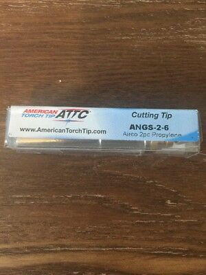 American Torch Cutting Tip Angs-2-6 Airco 2pc Propylene   F