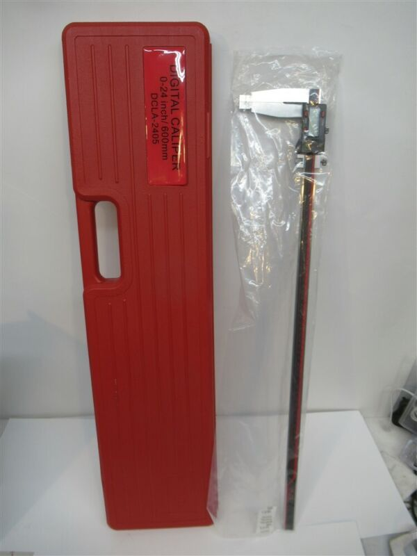 "Vinca DCLA-2405, 0"" - 24"" Digital Electronic Caliper, Measure Inch & Metric"