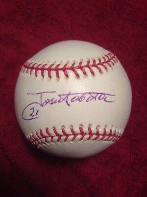 JOSE TABATA signed Official Major League Baseball AUTO AUTOGRAPH