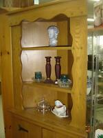 solid wood corner hutch rustic looking with barn door hinges