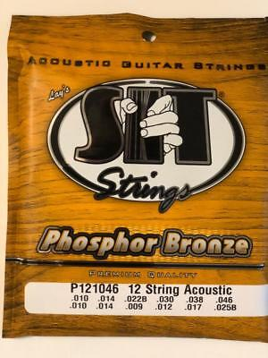 SIT Phosphor Bronze 12-String Acoustic Guitar Strings Light