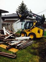 Demolish concrete pads & walk ways, decks, fences, garden sheds