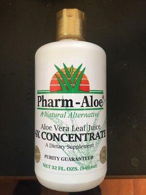 Aloe Vera Organic Leaf Juice 32oz 4X CONCENTRATE Made in USA by Pharm Aloe Aloe Vera Juice Concentrate