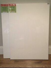 2 x Artists' Stretched Canvas. 70x100cm & 80x100cm (New. Ex Shop Stock)