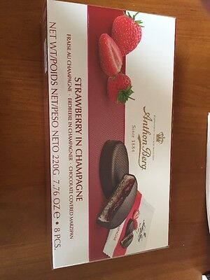 Anthon Berg Strawberry In Champagne Chocolate Covered Marzipan Chocolates 220g