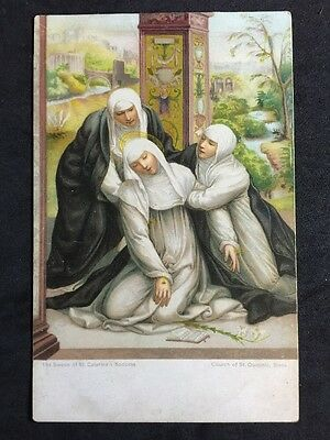 Vintage Postcard - Religious #40 - Misch & Co - Swoon Of Saint Catherine 1907