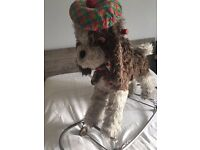 Vintage, Retro Kitsch Ride on / Sit on Dog Toy (like rocking horse)