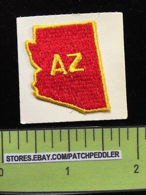 Tiny ARIZONA EMBROIDERED PATCH ~ Can Be Sew On Or Stick On. Sticky Back 5DB1