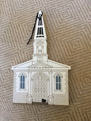 Cat's Meow Limited Ed Ornament, Unitarian Church, Christmas Wood Collectible ()