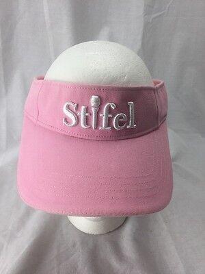 Womens Pink Stifel Golf Visor Euc