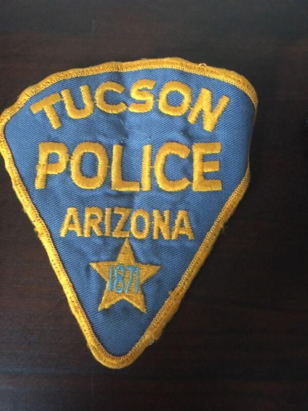 Vintage Police Tucson Arizona Shoulder Patches (2)