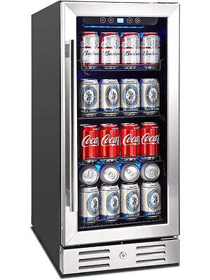 Kalamera 2.8 Cu.ft 15 Built-in 96 Can Cooler With Dual Pane Glass Door