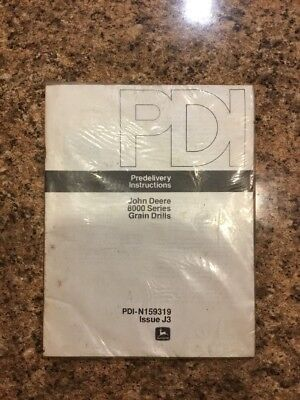 John Deere 8000 Series Grain Drill Predelivery Instructions Pdi-n159449 Nos