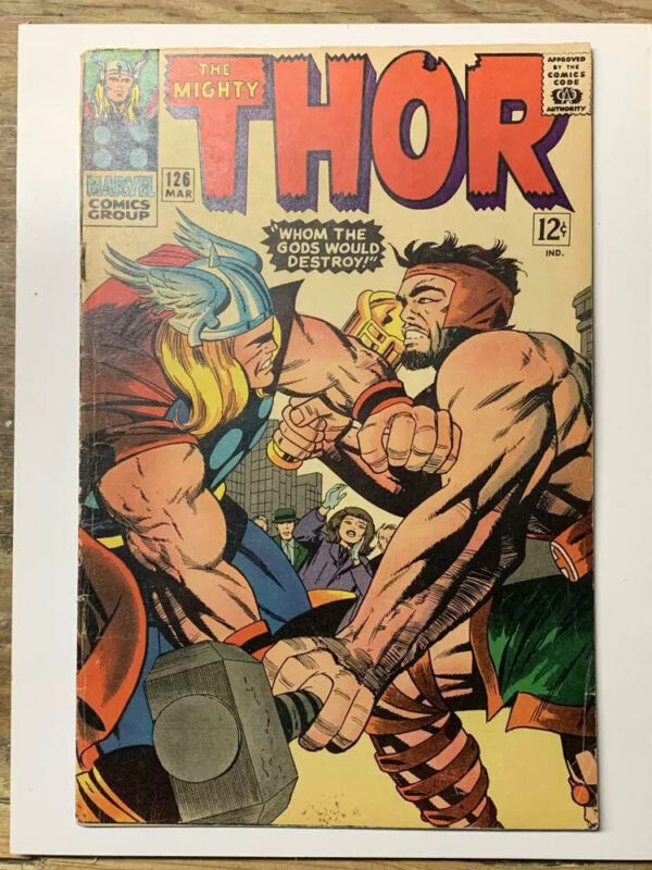 The Mighty Thor #126/Silver Age Marvel Comic Book/1st Thor Title/VG+