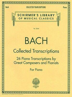 Bach Collected Transcriptions Piano Solo Piano Collection NEW 050482738