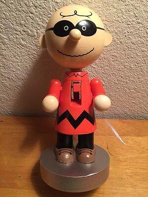 Charlie Brown Masked Marvel Halloween Nutcracker Wood Peanuts Snoopy New