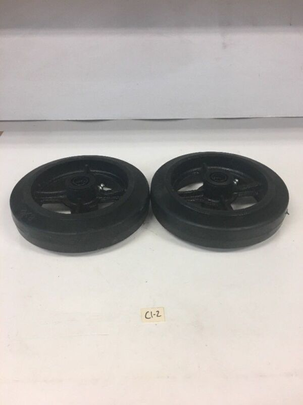 New! Cast Iron Wheel 8X2 Qty 2 *Fast Shipping* Warranty!